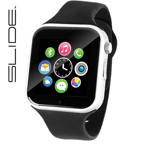 Slide Men's Black Smart Watch