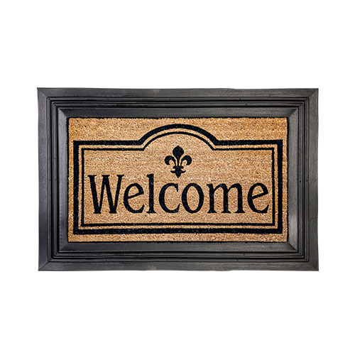 Evergreen Welcome Mat with Tray