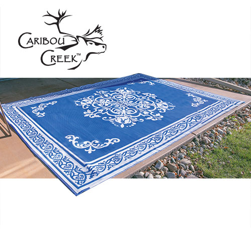 Blue/White Outdoor Rug - 5x8