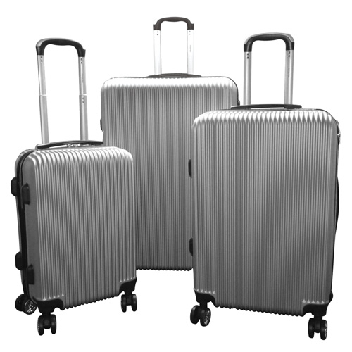 Karriage-Mate Silver Hard Luggage 3 Piece Set