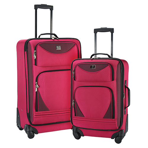 Fuschia Luggage Set