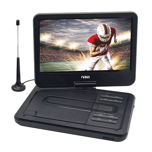 "Naxa NPD-1000 10"" Portable DVD Player with TV Tuner"