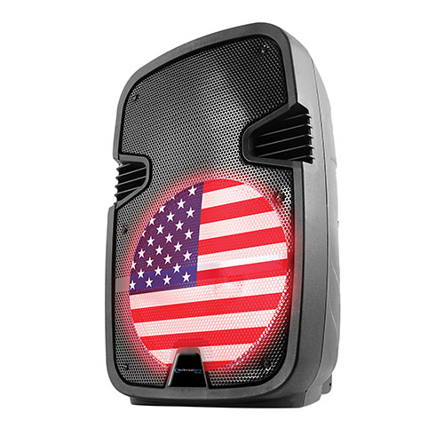 Technical Pro 12 inch USA Flag LED Party Speaker
