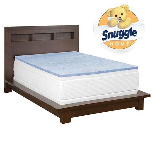 Snuggle Home 3 Inch Gel Foam Mattress Topper