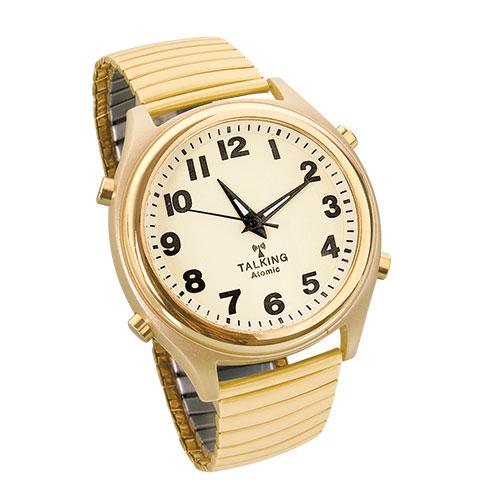 Men's Gold Talking Atomic Watch