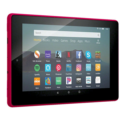 Amazon Fire 7 inch Magenta Tablet With Alexa