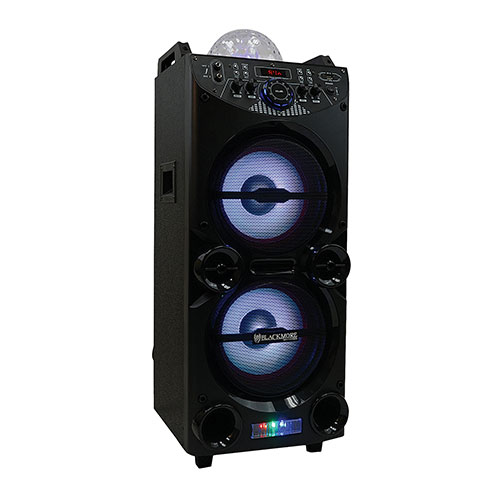 Blackmore Dual 10 inch Party Speaker with Disco Ball