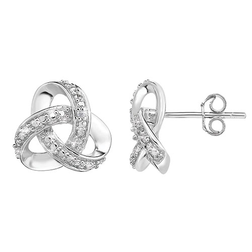 Jilco Diamond Love Knot Earrings