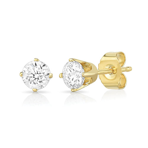 Jilco Gold Diamond Earrings