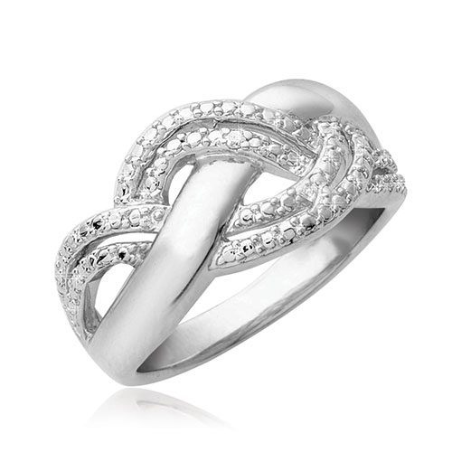 Women's Silver & Diamond Ring