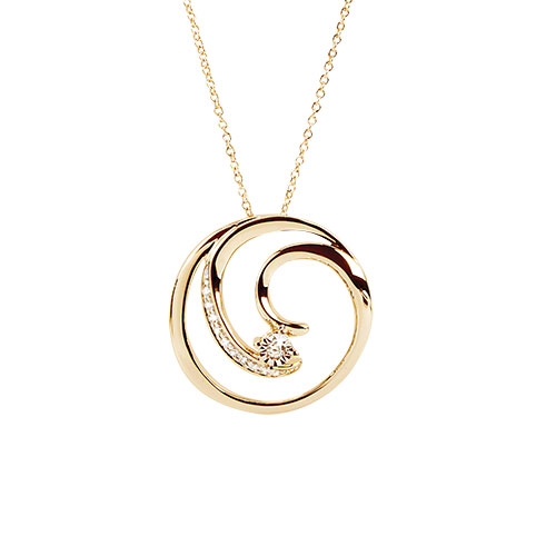 Jilco Diamond Swirl Necklace