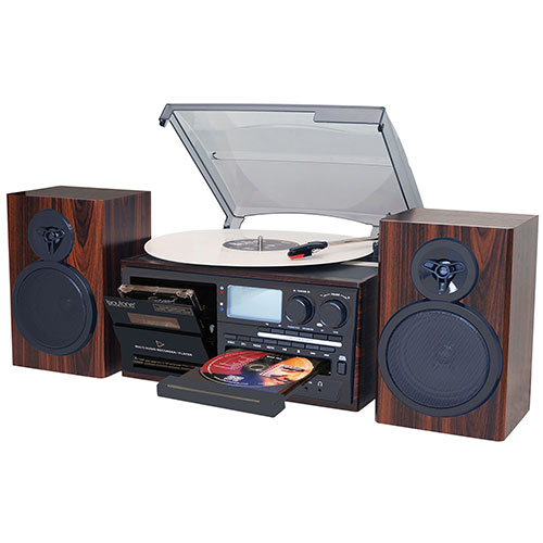 Boytone BT-28MB Classic Turntable with Bluetooth/AM/FM