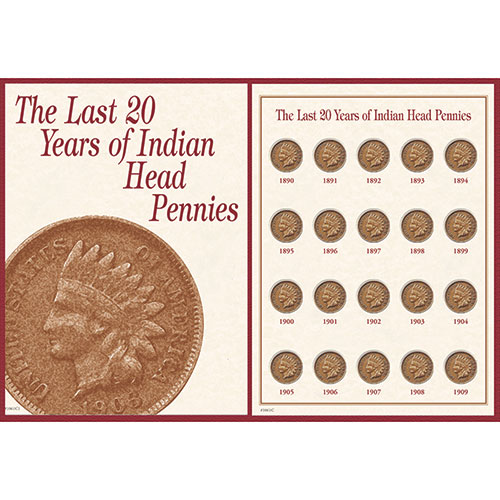 American Coin Treasures Indian Head Pennies 1890-1909