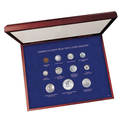 American Coin Treasures 11 Piece Set with Deluxe Case