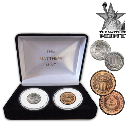 The Matthew Mint 2- and 3-Cent Coins
