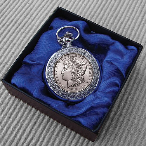 The Matthew Mint Morgan Silver Dollar Pocket Watch