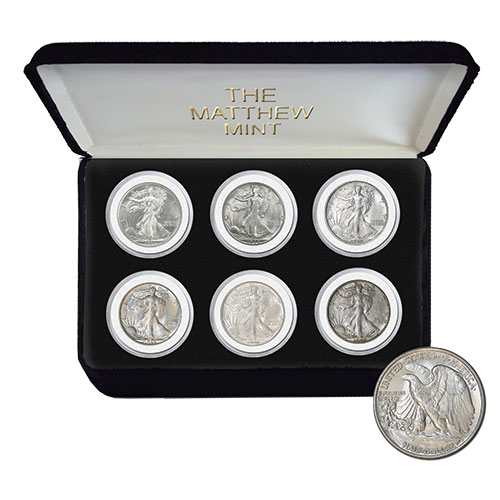 The Matthew Mint Walking Liberty Coin Set