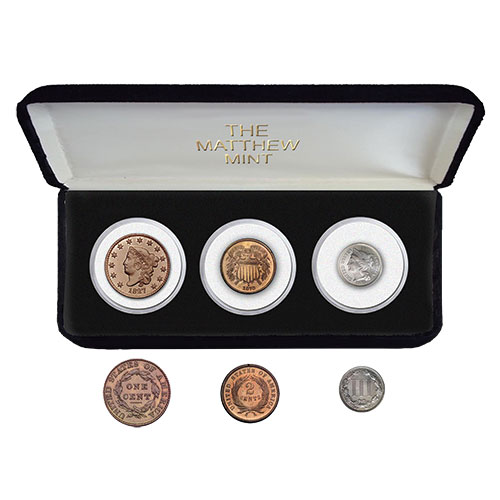 The Matthew Mint 3-Cent Coin Set
