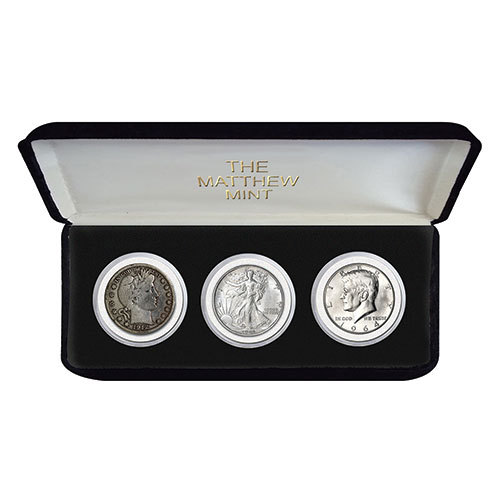 Matthew Mint Half-Dollar 3 Piece Coin Set