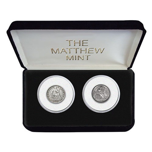 The Matthew Mint Liberty Half Dime and Dime Set