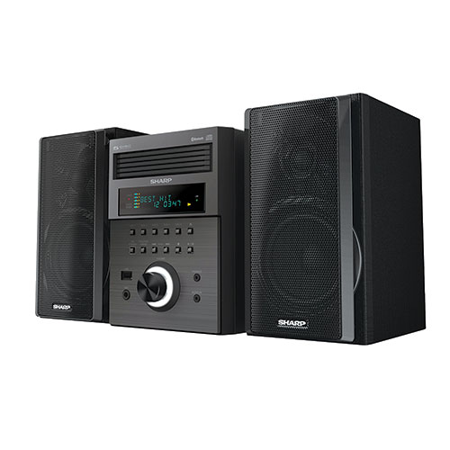 Sharp XL-BH250 5-CD Micro Shelf System with Bluetooth