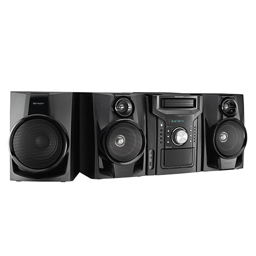 Sharp 350W Five-Disc Mini Shelf Stereo with Cassette/Bluetooth