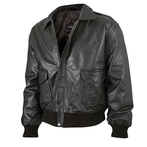 Burk's Bay Men's Black Lambskin Bomber Jacket