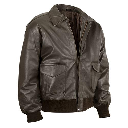 Burk's Bay Men's Brown Lambskin Bomber Jacket