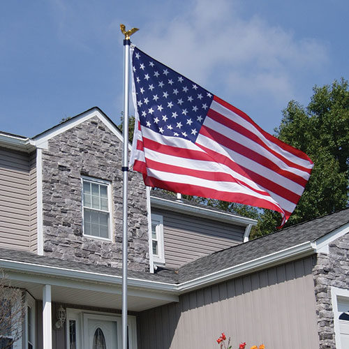 Fly-Right American Flag and Pole Kit