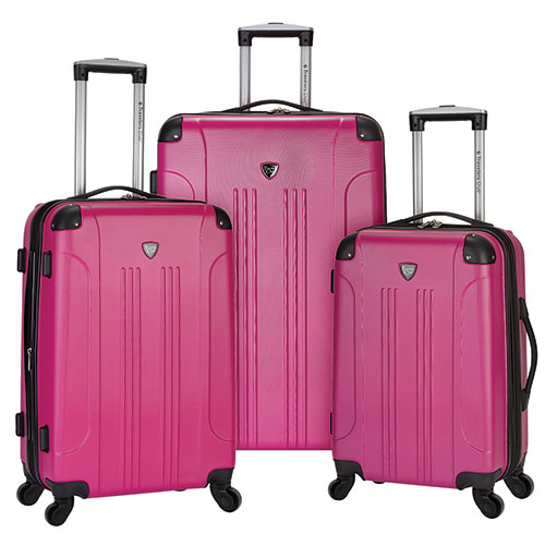 Travelers Club 3-Piece Chicago Luggage Set