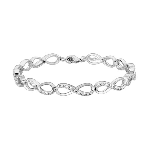 Diamond Accent Infinity Bracelet