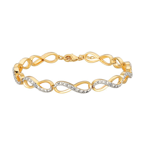 Diamond Accent Two-Tone Bracelet