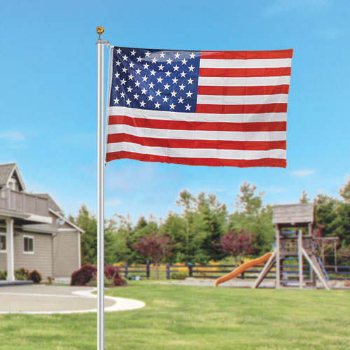 Zeny American Flag Kit with 25' Pole
