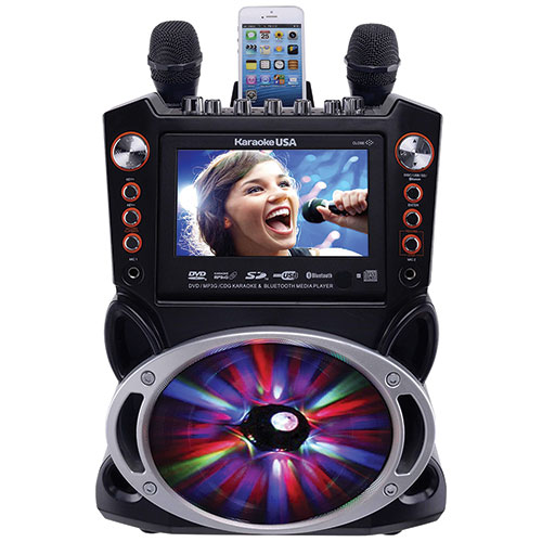 Karaoke USA GF846 Color Changing Karaoke Machine
