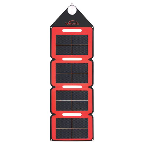 Solar Camp Solar Charger - Red