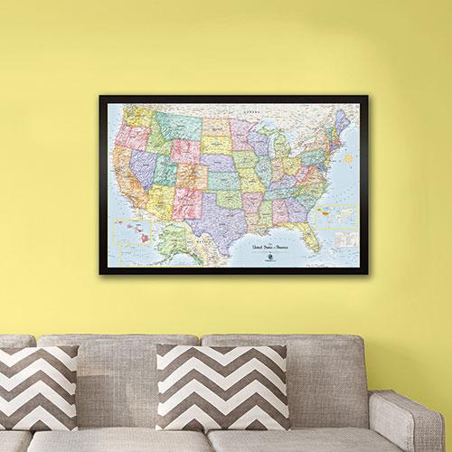 Winding Hills Designs U.S. Magnetic Map