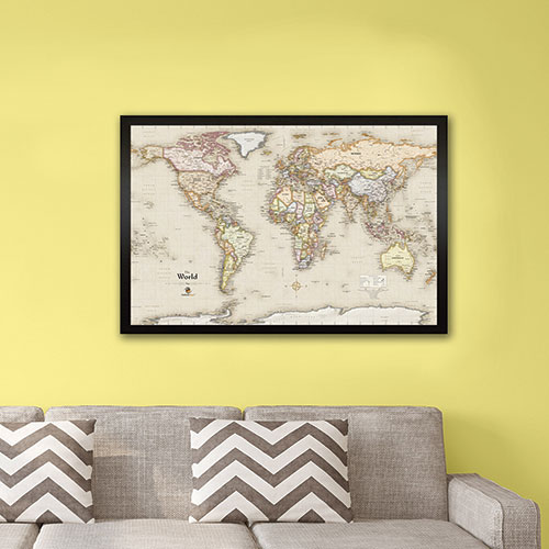 Winding Hills Designs World Magnetic Map