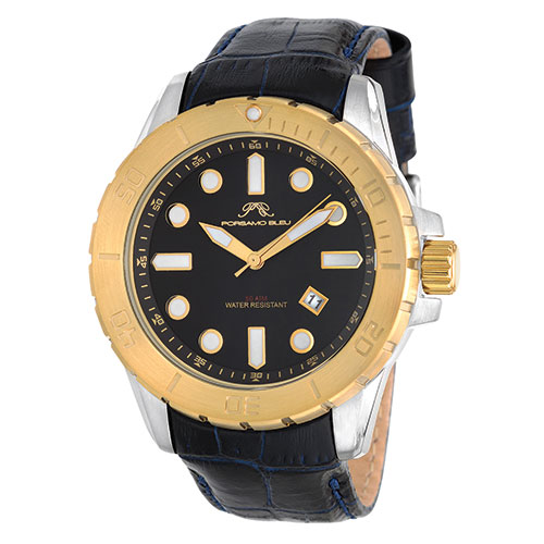Porsame Bleu 633BTOL Men's Silver/Gold Watch