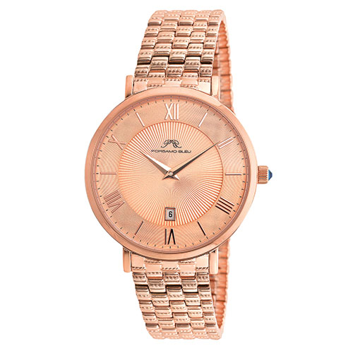 Persamo Bleu 431CANS Women's Rose Tone SS Watch