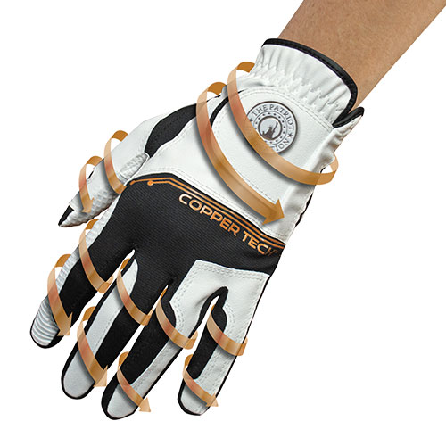 Copper Tech Men's Copper Infused Golf Gloves
