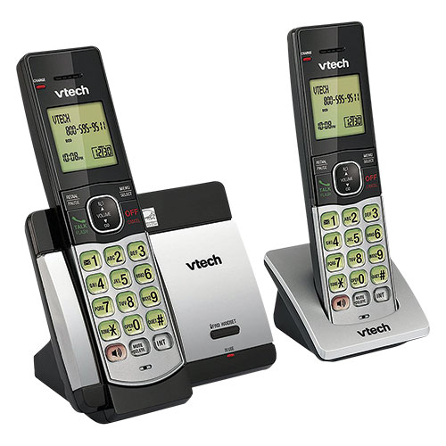 Vtech DECT 6.0 Expandable 2-Handset Cordless Phone System with Caller ID