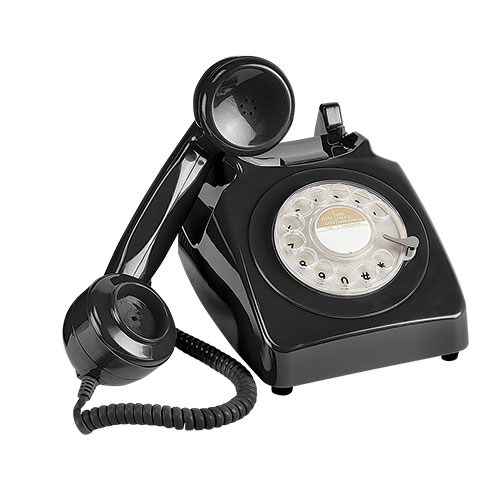 Retro Rotary Black Desk Phone