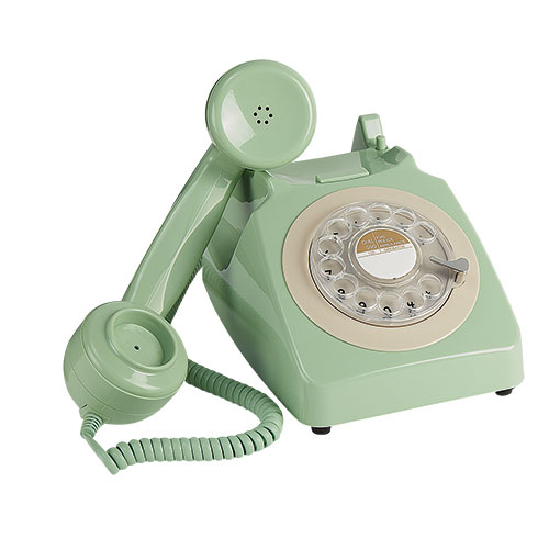 Retro Rotary Mint Green Desk Phone