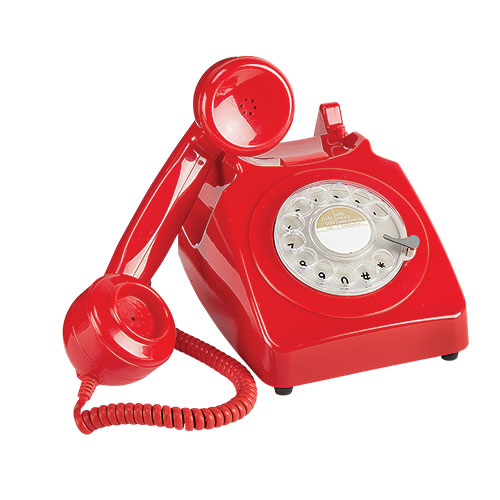 Retro Rotary Red Desk Phone