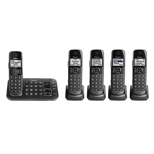 Panasonic 5-Handset 645M Cordless Phone System