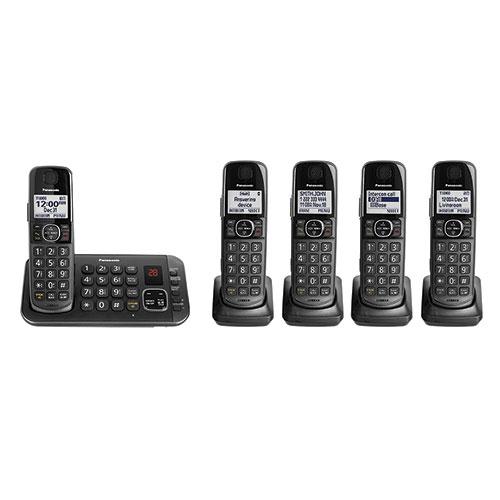 Panasonic 5-Handset 645M Cordless Phone System