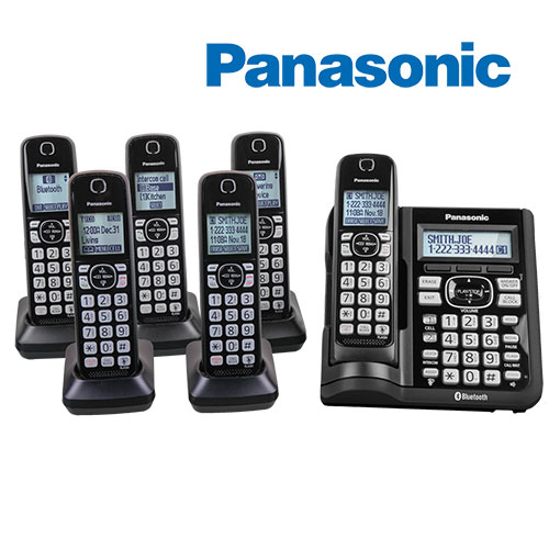 Panasonic KX-TGF576S 6-Handset Cordless Phones with Cellphone Alert