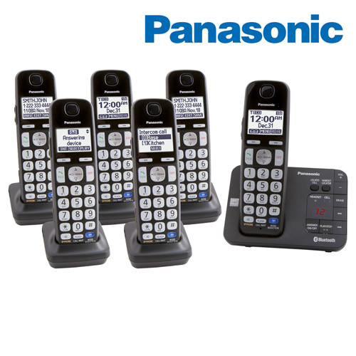 Panasonic 6-Handset Phone System with Link-To-Cell for 2 Cell Phones