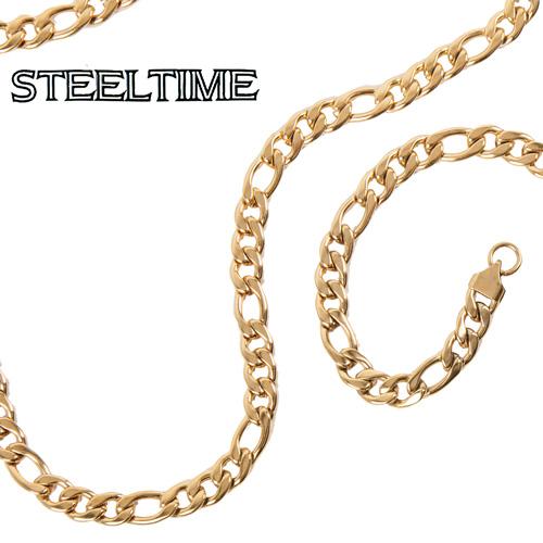heartland america mens figaro necklace bracelet set