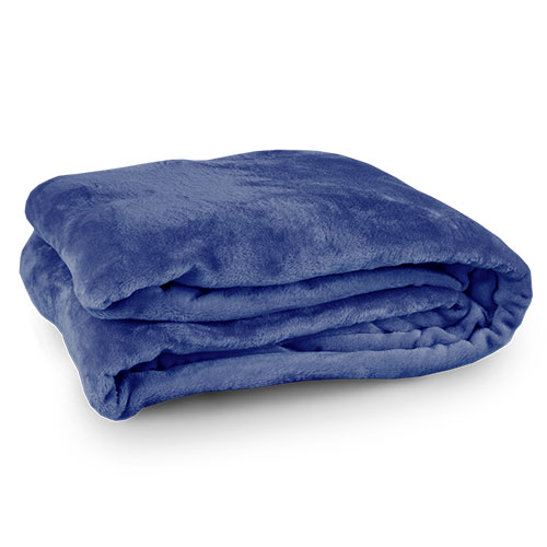Northpoint Trading Navy Twin Velour Blanket
